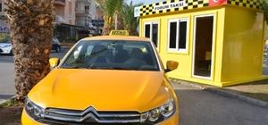 Taksicilerin yeni durakları belediyeden