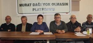 """Murat Dağı Platformu; """"Suyumuza ve toprağımıza sahip çıkıyoruz"""""""