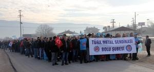 Metal işçilerinden zam protestosu