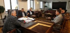 KAYMESKOM yönetimi Başkan Büyükkılıç'ı ziyaret etti