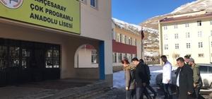 Kaymakam Özcan'dan okul ve esnaf ziyareti