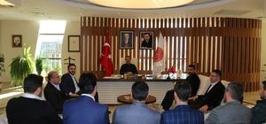AK Parti İl Başkanı Yanar, Rektör Bağlı'yı ziyaret etti