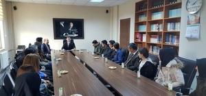 Ödüllü öğrenciler Kamakam Girgin'i ziyaret etti