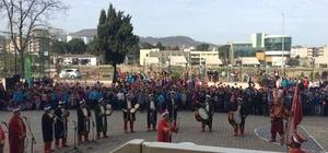 Öğrencilere mehteran gösterisi