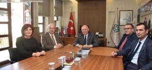 Başkan Eşkinat, Başkan Albayrak'ı makamında ağırladı