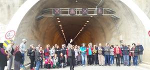 Turkuaz Grubu gönüllüleri Melleç Tüneli ve viyadüğünü gezdi