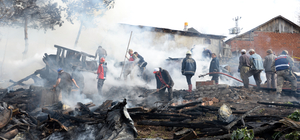 GÜNCELLEME - Tokat'ta ahşap evde yangın