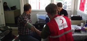 Çan'da Türk Kızılay'ına iki günde 111 ünite kan bağışı yapıldı