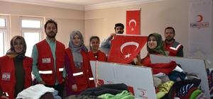 Kızılay'dan ihtiyaç sahibi ailelere yardım
