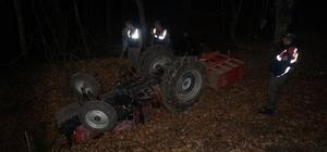 Sakarya'da traktör devrildi: 1 ölü
