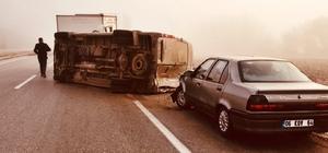 Sungurlu'da zincirleme trafik kazası