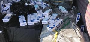 Van'da 2 ayrı minibüste 39 bin 500 paket kaçak sigara ele geçirildi