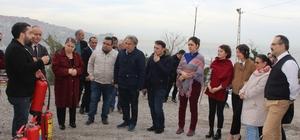 Zonguldak'ta sağlıkçılara yangın tatbikatı