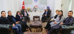 Mimarlar Odası Şube Başkanından Gürkan'a ziyaret