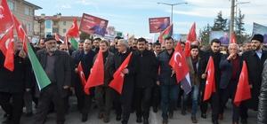 ABD'nin Kudüs'ü İsrail'in başkenti olarak tanımasına Erzincanlılardan tepki yürüyüşü