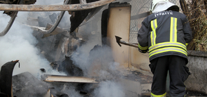 Muğla'da depo yangını