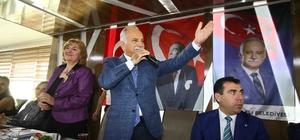 Başkan Karabağ, kadınlarla bir araya geldi