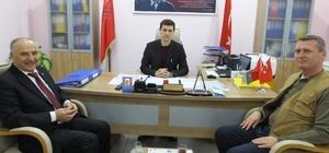 Burhaniye'de Hürriyet Ortaokulu Müdürü Bilgin'den mesleki eğitim merkezine veda ziyareti