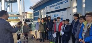 Okul öğrencileri eğitim araştırmalarını TESKİ tesislerinde yaptı
