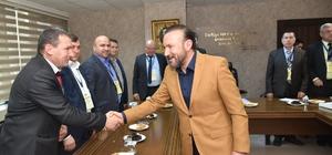Başkan Doğan Türk Dünyası'ndan misafirlerini ağırladı