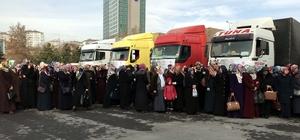 Kayseri'den Suriyelilere 11 tır un