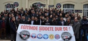 Uşak'ta öğretmenler şiddete hayır dedi