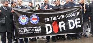 İzmir'de öldürülen okul müdürü Ağrı'da unutulmadı