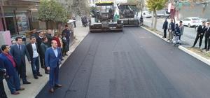 Huzur Caddesi'ne asfalt