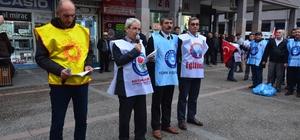 Öğretmenlere şiddet protesto edildi