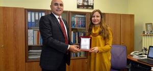 Başkan Korkut'tan GEBİP'li akademisyene teşekkür