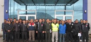 Jandarmadan özel güvenlik personeline patlayıcı madde konusunda eğitim