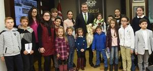 Karesi Çocuk Meclisi'nden Başkan Yılmaz'a ziyaret