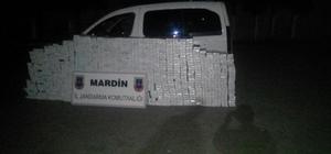 Midyat'ta 14 bin 600 paket kaçak sigara ele geçirildi
