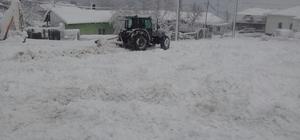 Kar yağışı Yenice'de etkili oldu