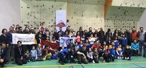 Spor tırmanışçıları birincilik için mücadele etti