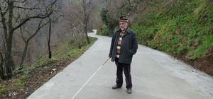 İnşaatta gözlerini kaybeden yaşlı adamın yolunu betonladılar