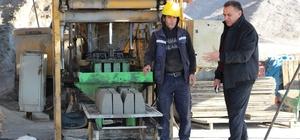 Silopi parke taşı üretim tesisi faaliyete geçti