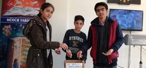 Çavdarhisar Ortaokulu'nda atık pil toplama kampanyası