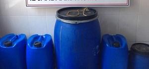 aracasu'da 1,1 ton kaçak şarap yakalandı