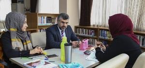Başkan Keskin KPSS'ye hazırlananlarla sohbet etti