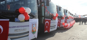 Siverek'te yeni toplu taşıma araçları hizmete başladı