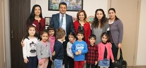 Kreş öğrencilerinden Kartal Belediyesi'ne yeni yıl ziyareti