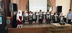 Altıntaş'ta 4-6 yaş Anaokulu öğrencilerinin Kudüs sevgisi