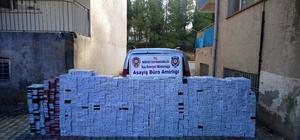 Midyat'ta 14 bin paket kaçak sigara ele geçirildi