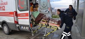Tekirdağ'da depoya düşen işçiyi itfaiye kurtardı