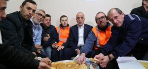 Türk-İş Başkanı Atalay yeni yıla işçilerle girdi