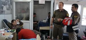 Kulu'da jandarmadan kan bağışı desteği