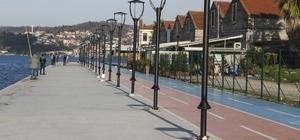 Kanlıca'dan-Paşabahçe'ye 3 bin 700 metre yürüyüş keyfi