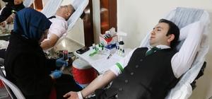 İl Özel İdaresi personelinden kan bağışı