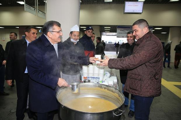 Marmaray yolcuları çorbayla işe uğurlanacak